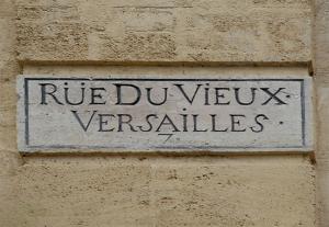 Versailles - Plaque de rue du XVIIIe siècle